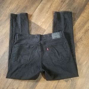 Levi's 511 black straight leg jeans